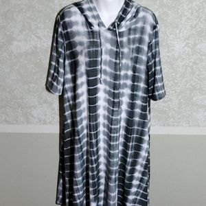 Vibe Sportswear Hooded Dress, 2X